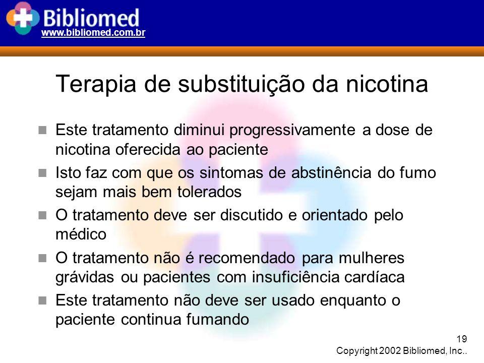Terapia de substituição da nicotina