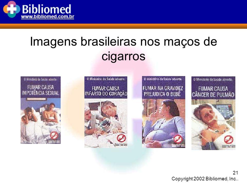 Imagens brasileiras nos maços de cigarros