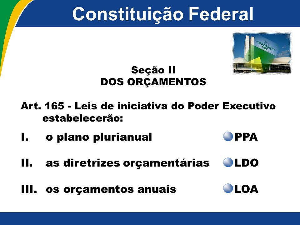 Constituição Federal o plano plurianual PPA