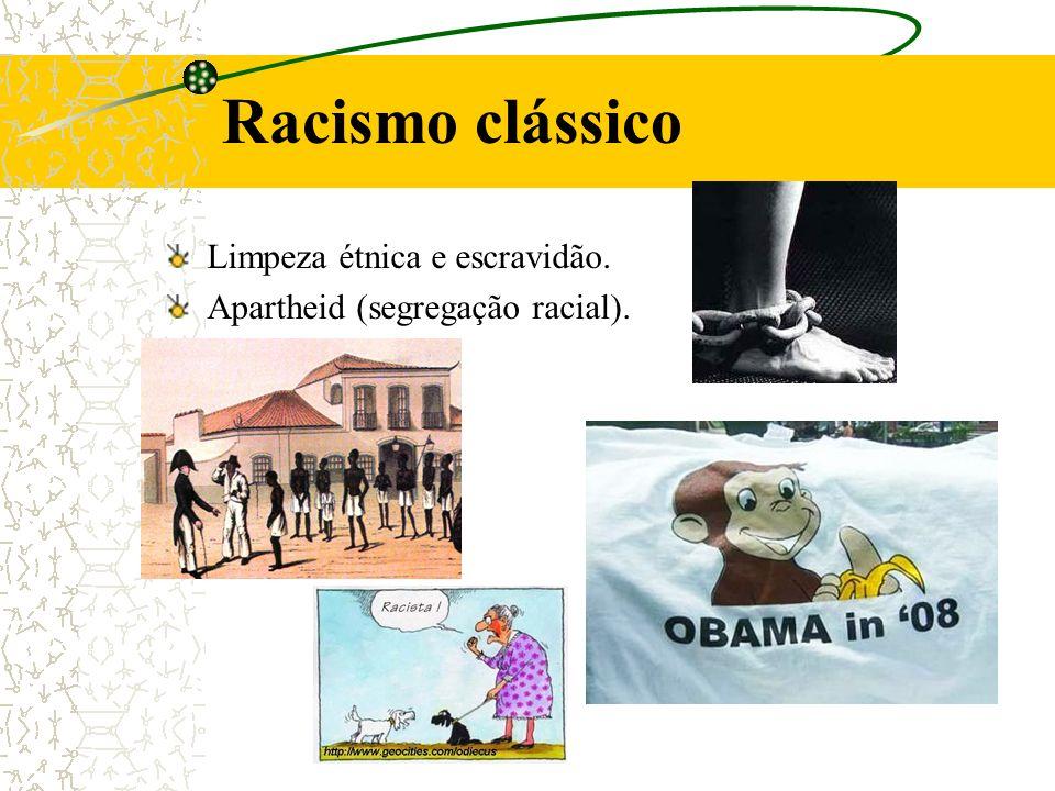 Racismo clássico Limpeza étnica e escravidão.
