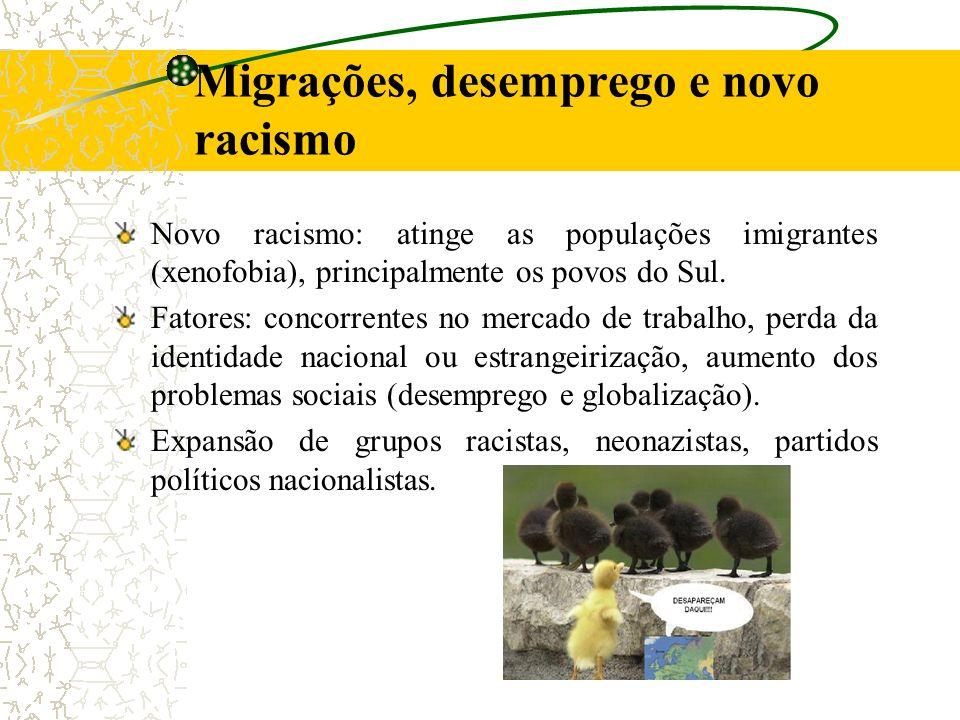 Migrações, desemprego e novo racismo