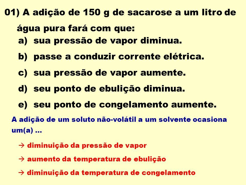 a) sua pressão de vapor diminua.