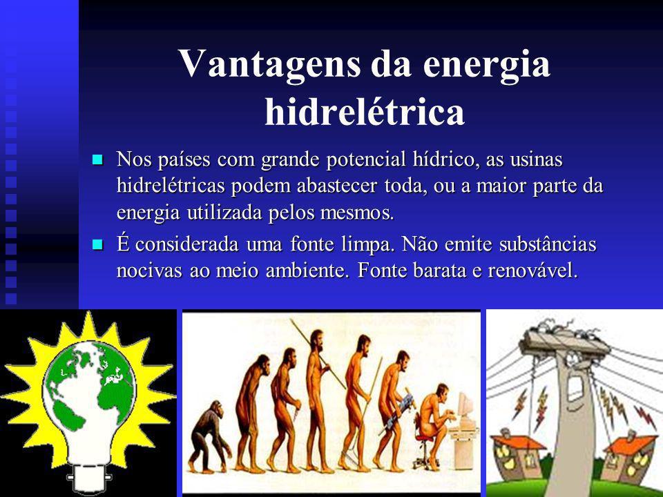 Vantagens da energia hidrelétrica