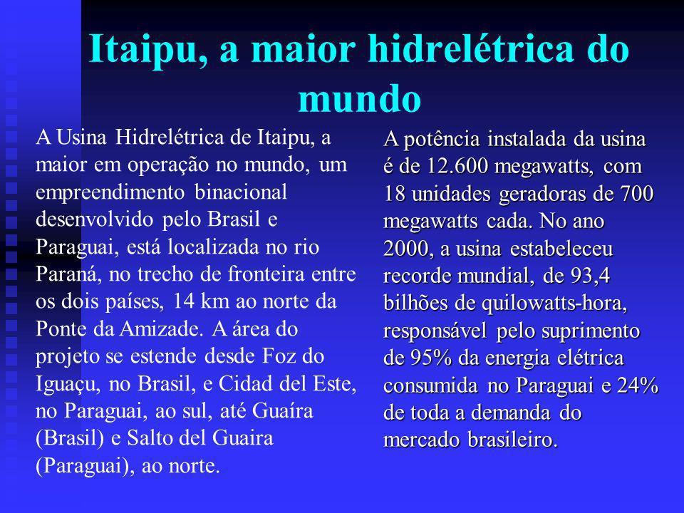 Itaipu, a maior hidrelétrica do mundo