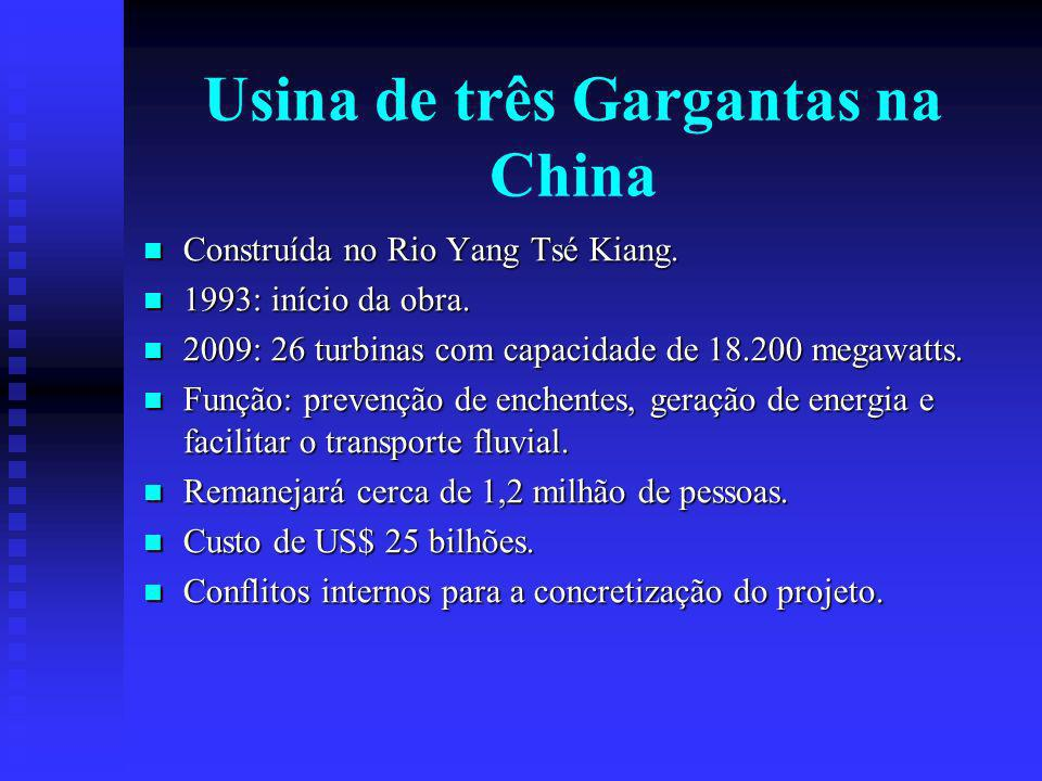 Usina de três Gargantas na China