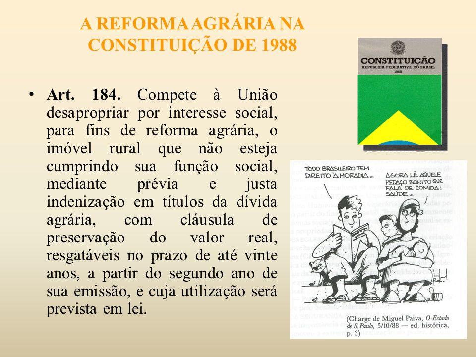 A REFORMA AGRÁRIA NA CONSTITUIÇÃO DE 1988