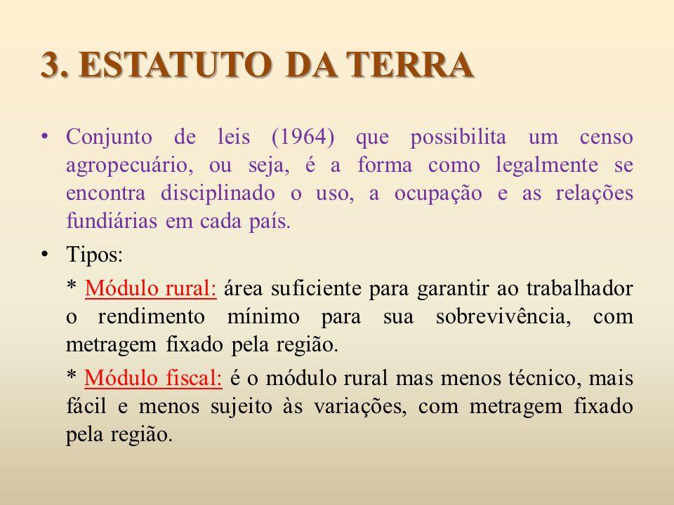 3. ESTATUTO DA TERRA