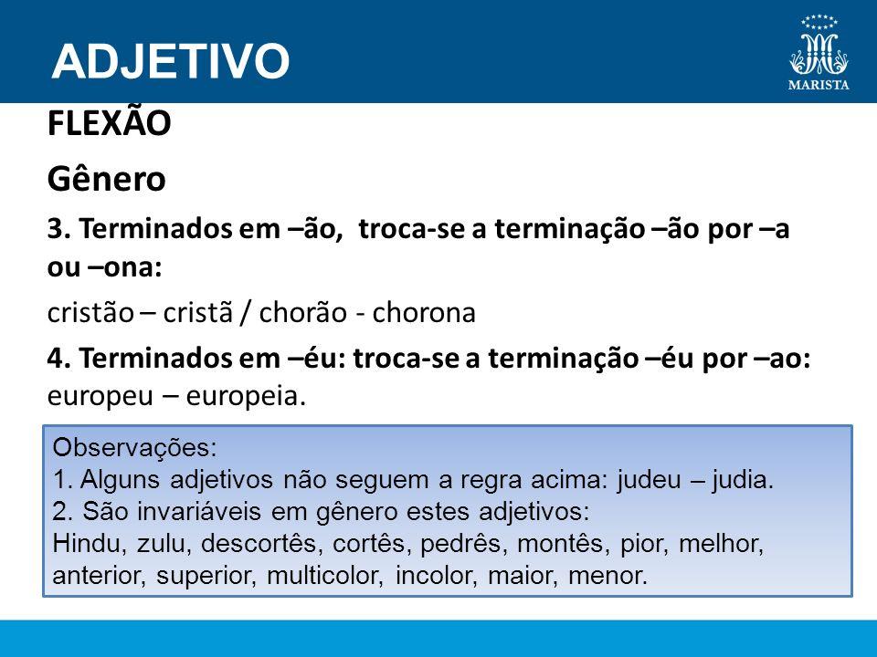 ADJETIVO FLEXÃO Gênero