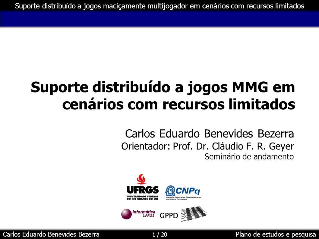 Suporte distribuído a jogos MMG em cenários com recursos limitados