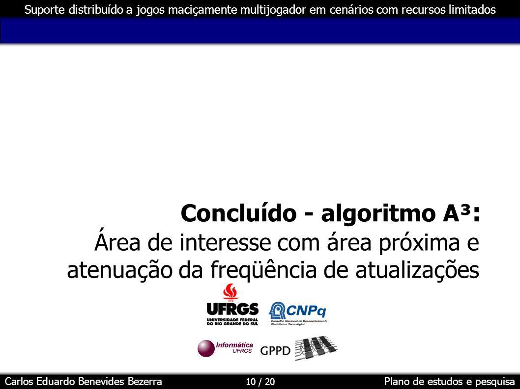 Concluído - algoritmo A³: