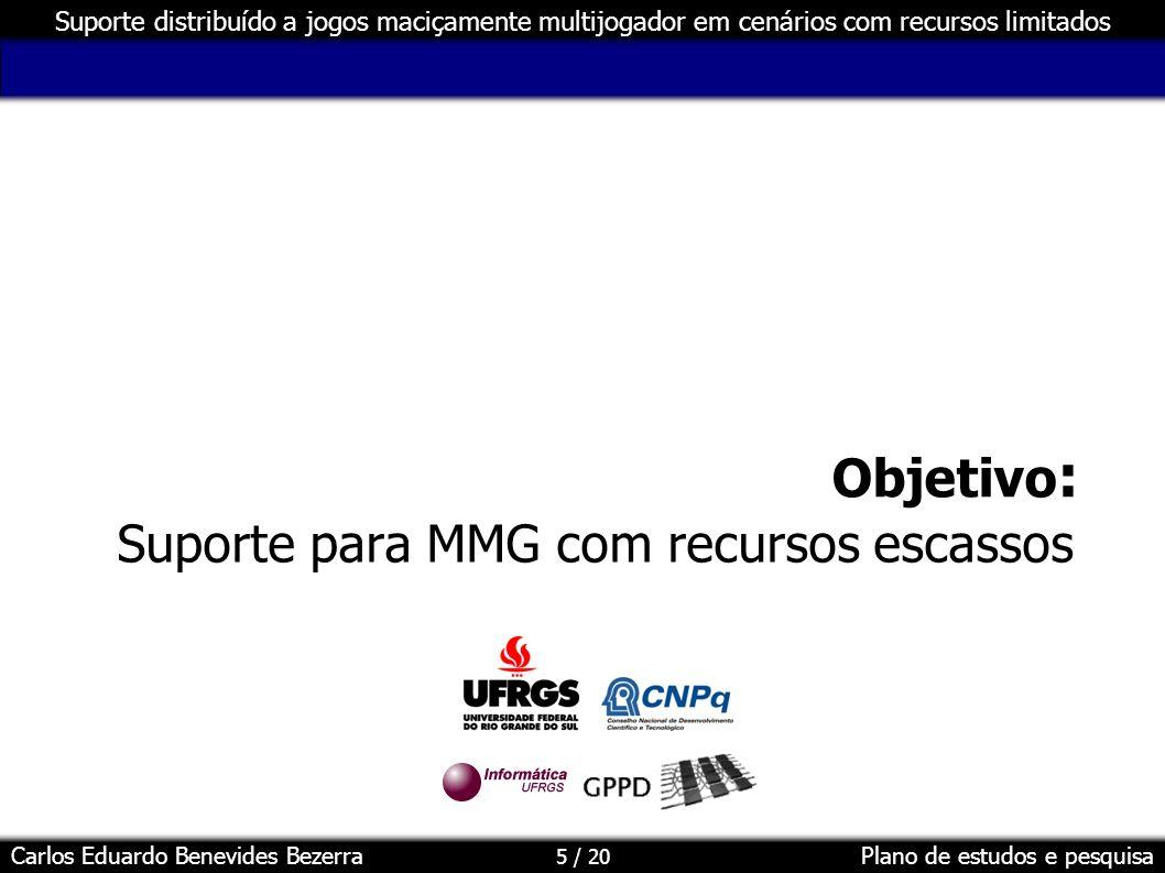 Suporte para MMG com recursos escassos