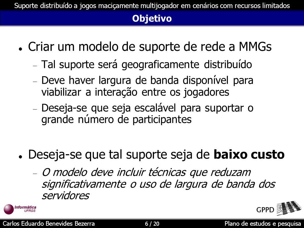 Criar um modelo de suporte de rede a MMGs