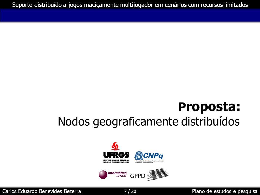 Nodos geograficamente distribuídos