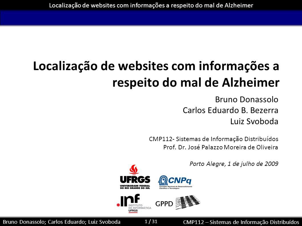 Localização de websites com informações a respeito do mal de Alzheimer