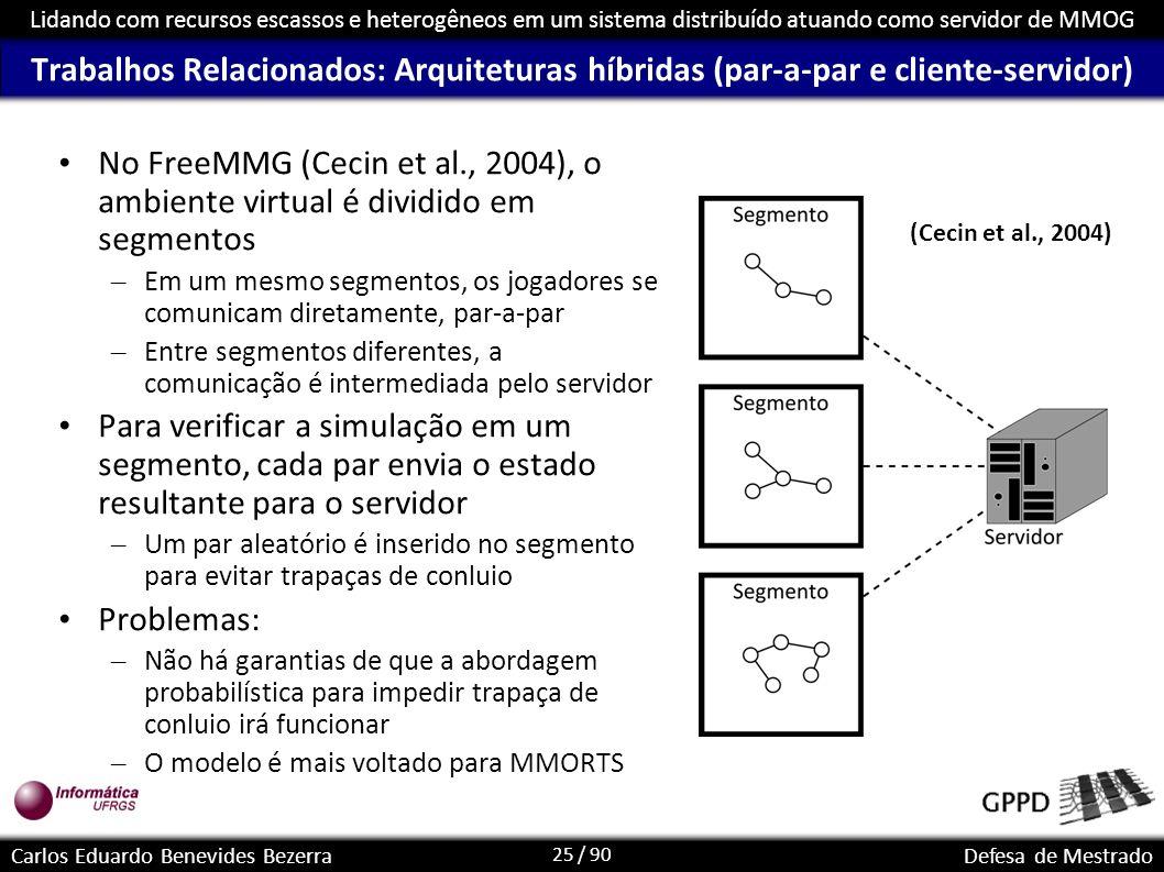Trabalhos Relacionados: Arquiteturas híbridas (par-a-par e cliente-servidor)