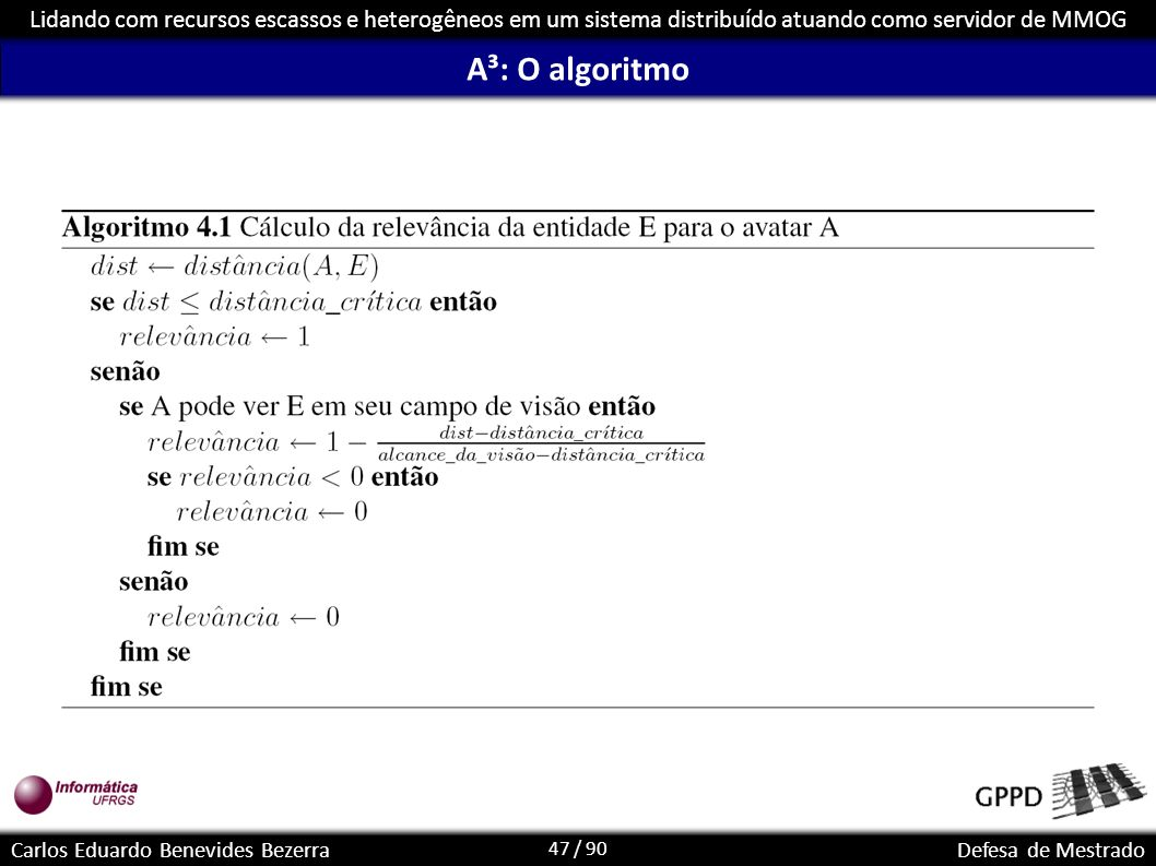 A³: O algoritmo