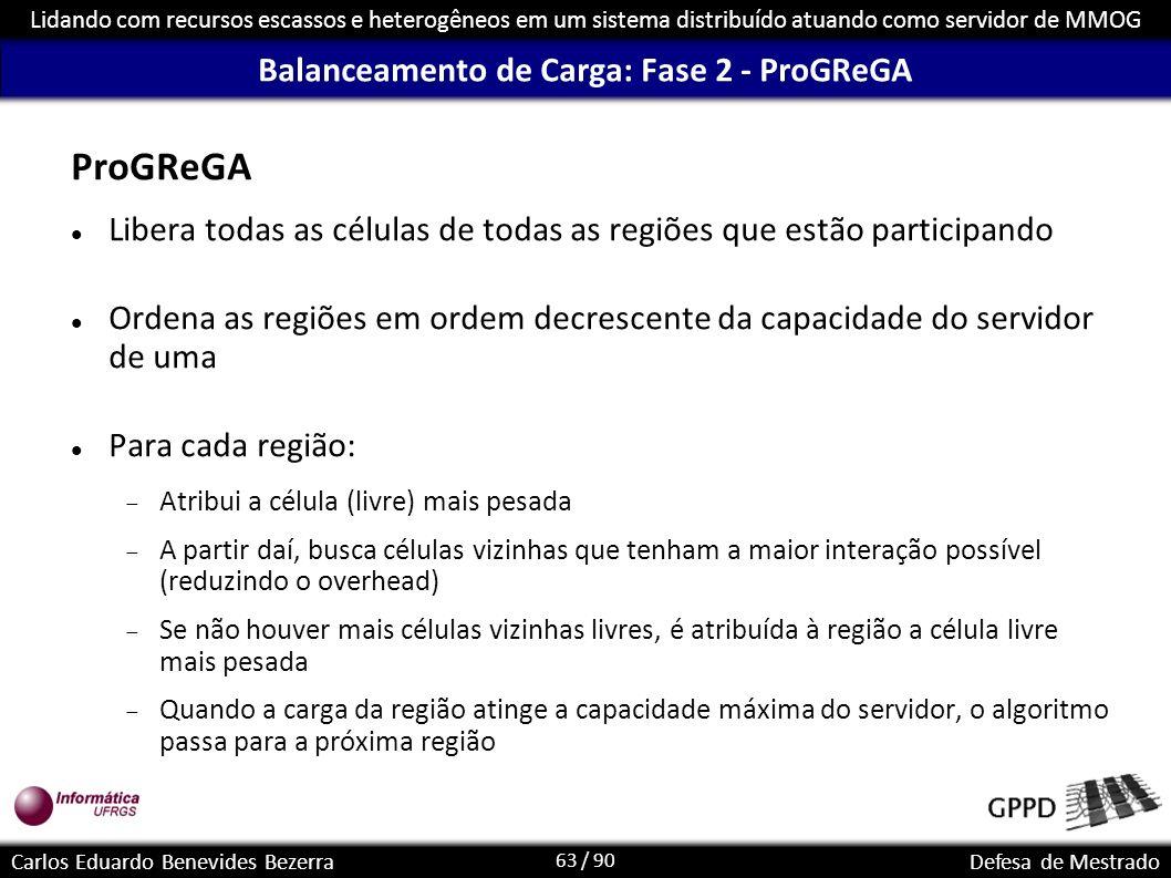 Balanceamento de Carga: Fase 2 - ProGReGA