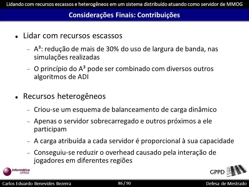 Considerações Finais: Contribuições