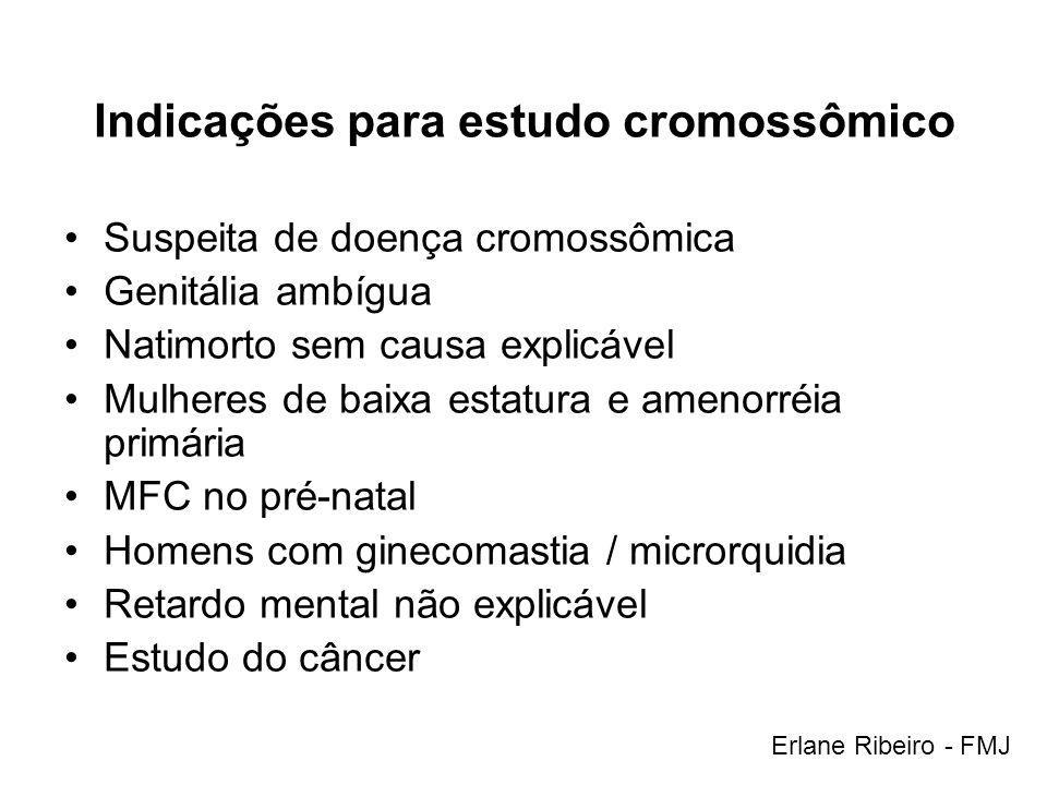 Indicações para estudo cromossômico