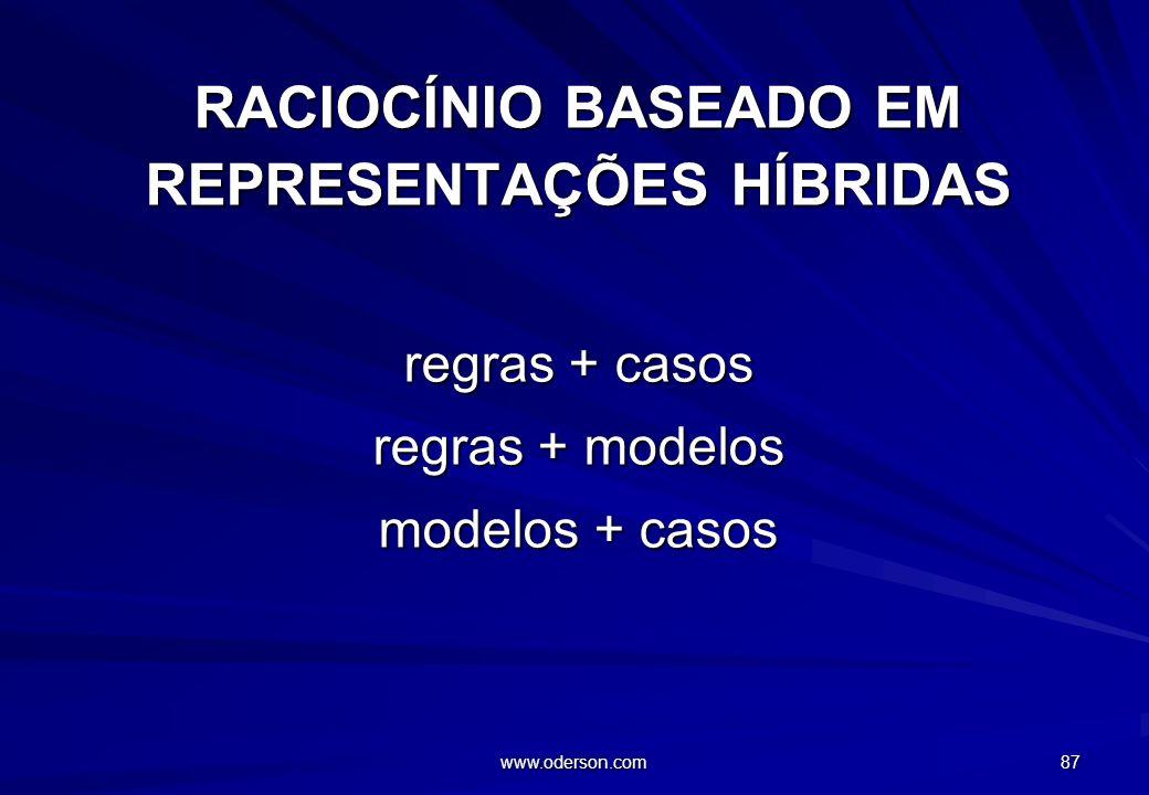 RACIOCÍNIO BASEADO EM REPRESENTAÇÕES HÍBRIDAS