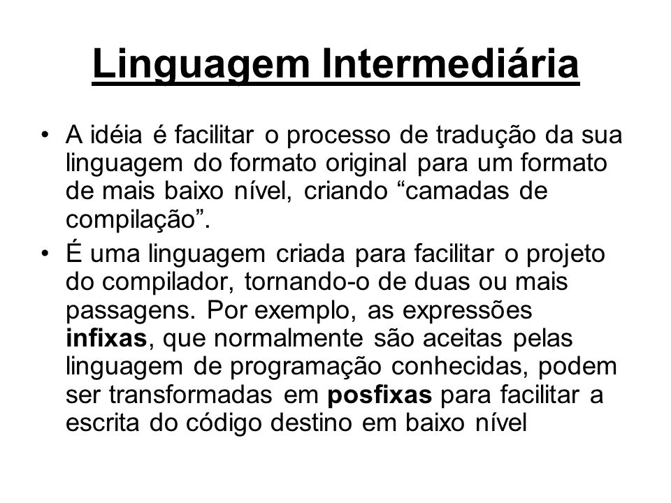 Linguagem Intermediária