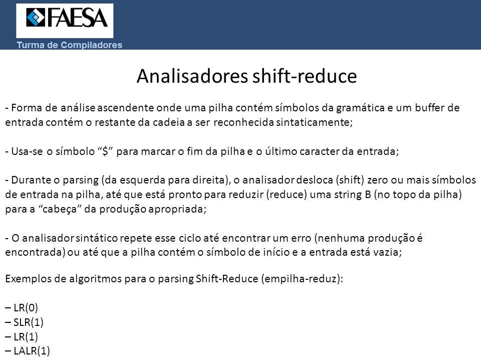 Analisadores shift-reduce