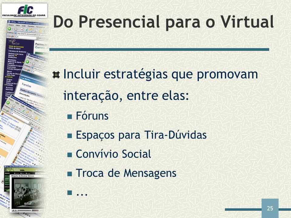 Do Presencial para o Virtual