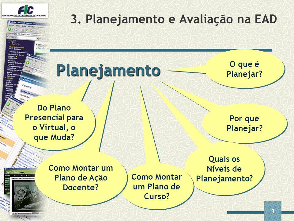 3. Planejamento e Avaliação na EAD