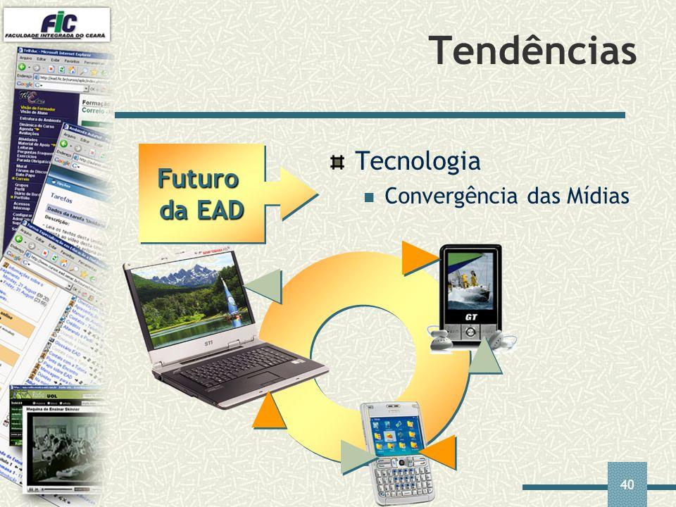 Tendências Futuro da EAD Tecnologia Convergência das Mídias