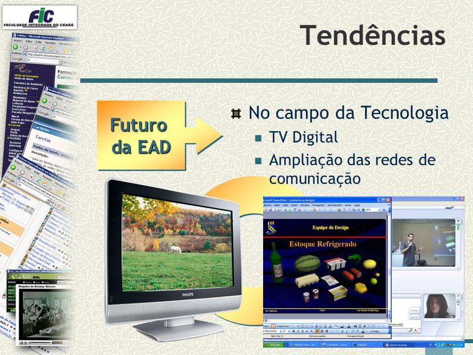 Tendências No campo da Tecnologia Futuro da EAD TV Digital