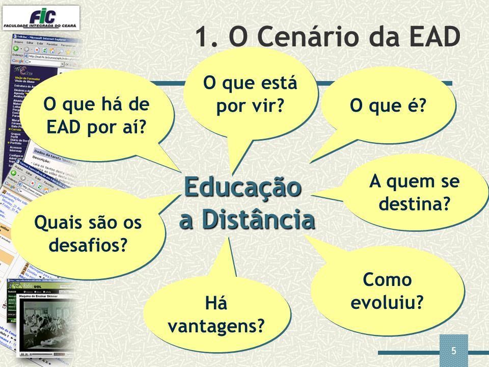 1. O Cenário da EAD Educação a Distância O que está por vir