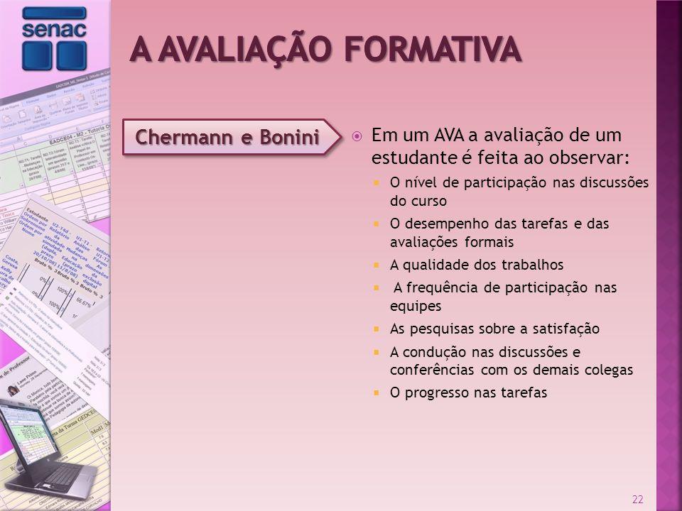 A Avaliação Formativa Chermann e Bonini