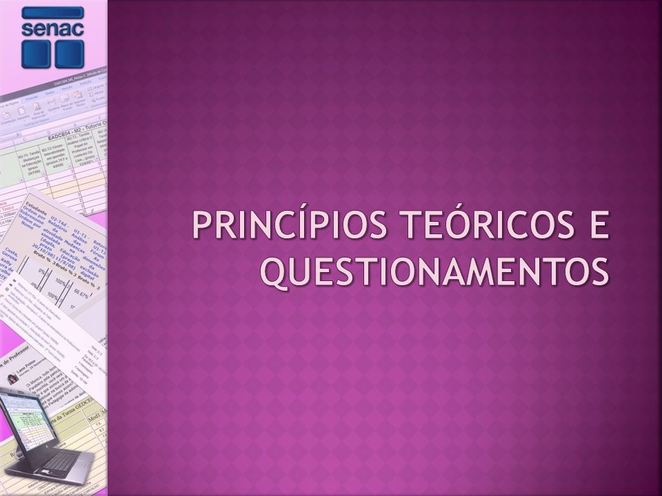 Princípios teóricos e questionamentos