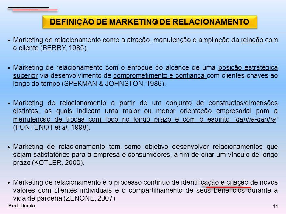 DEFINIÇÃO DE MARKETING DE RELACIONAMENTO