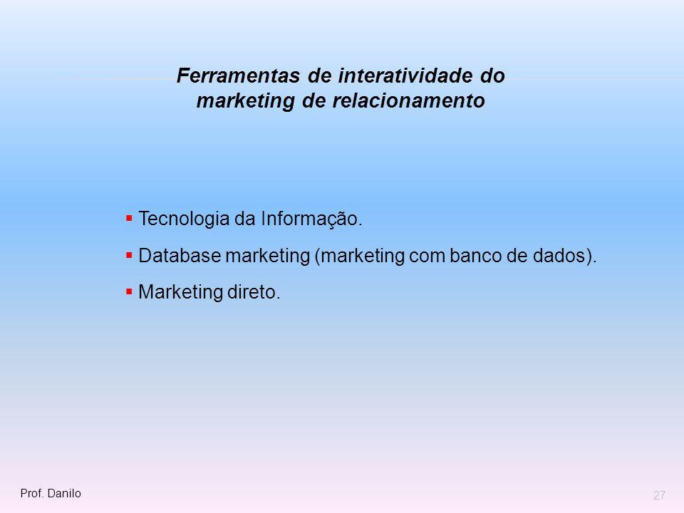 Ferramentas de interatividade do marketing de relacionamento