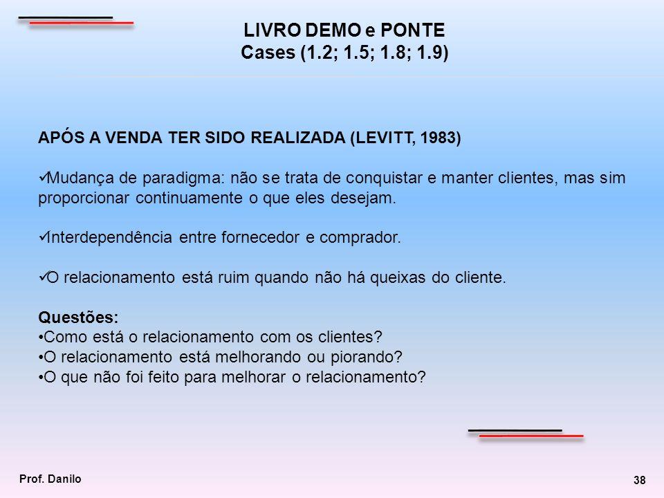 LIVRO DEMO e PONTE Cases (1.2; 1.5; 1.8; 1.9)