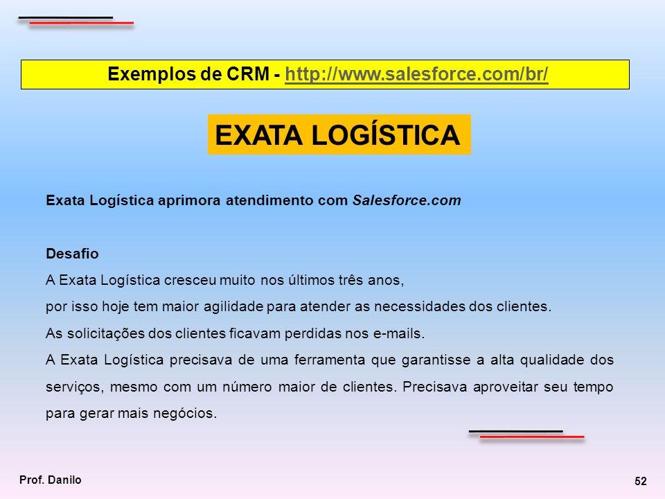 Exemplos de CRM - http://www.salesforce.com/br/