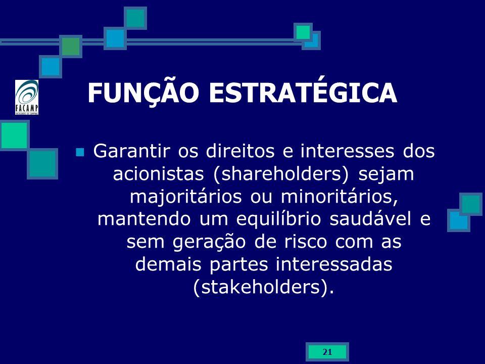FUNÇÃO ESTRATÉGICA