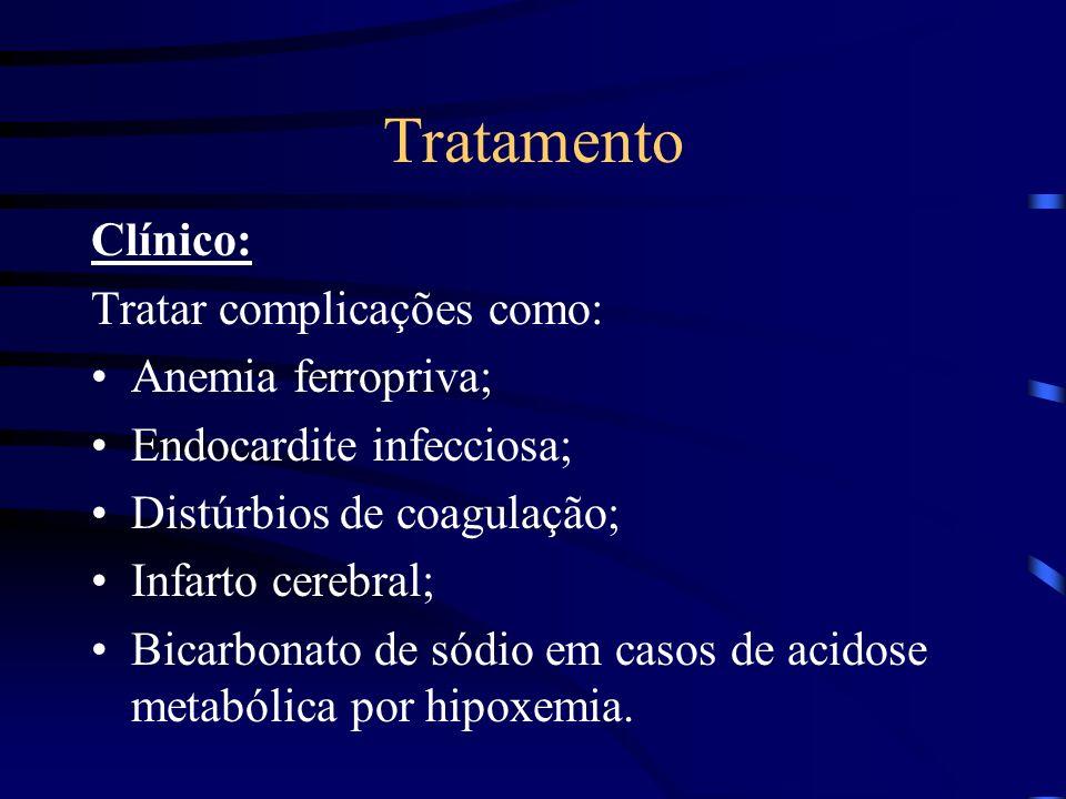 Tratamento Clínico: Tratar complicações como: Anemia ferropriva;
