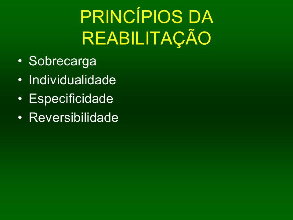 PRINCÍPIOS DA REABILITAÇÃO