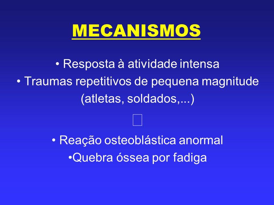 ⇓ MECANISMOS Resposta à atividade intensa