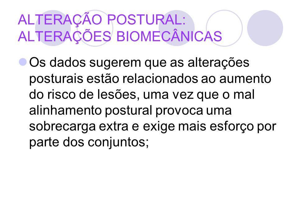 ALTERAÇÃO POSTURAL: ALTERAÇÕES BIOMECÂNICAS
