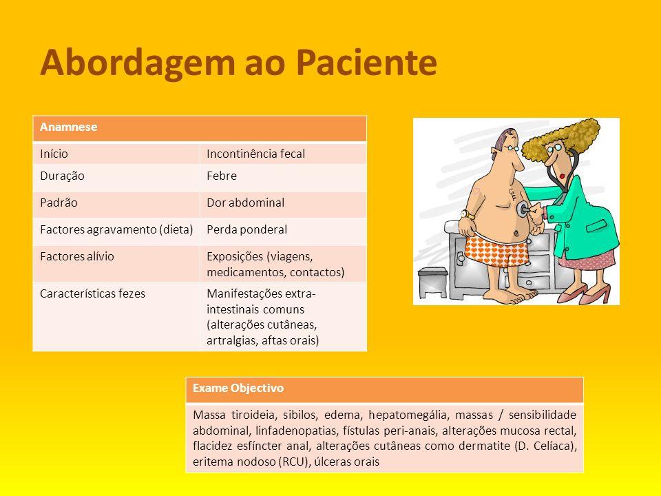 Abordagem ao Paciente Anamnese Início Incontinência fecal Duração