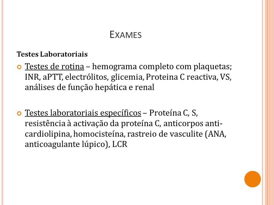 Exames Testes Laboratoriais.