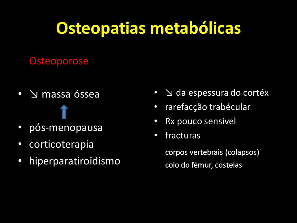 Osteopatias metabólicas