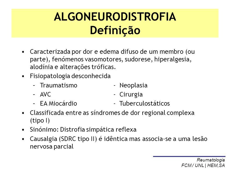 ALGONEURODISTROFIA Definição