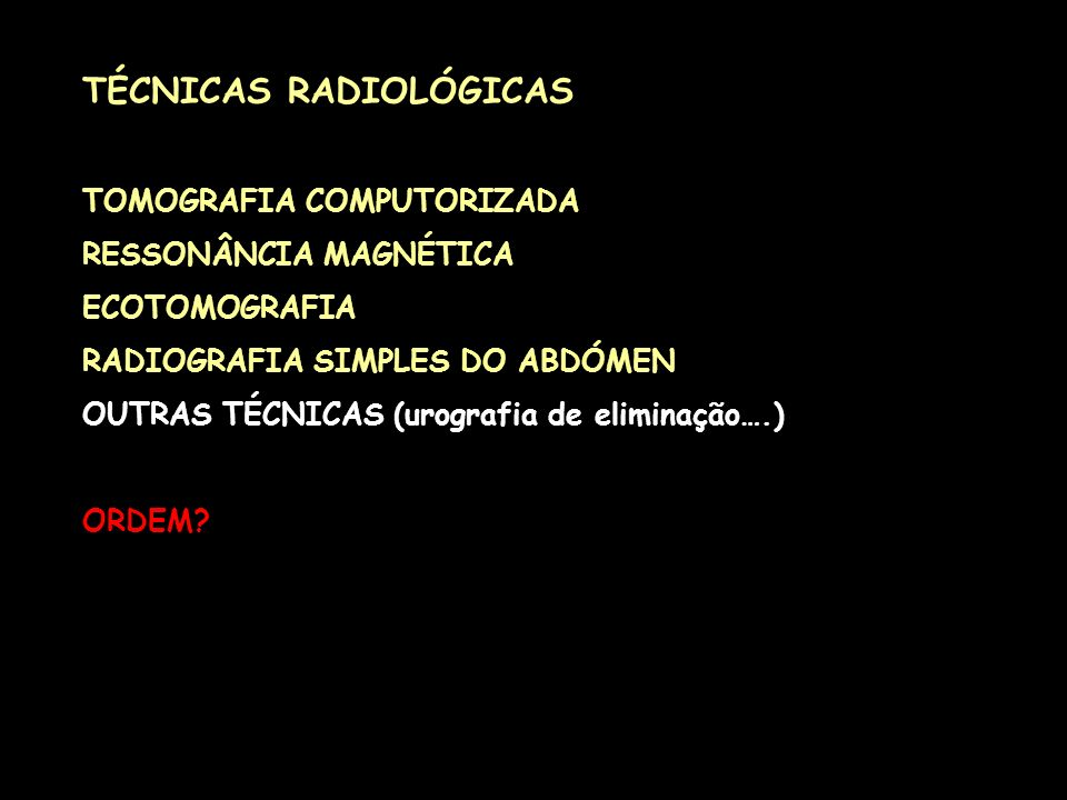 TÉCNICAS RADIOLÓGICAS