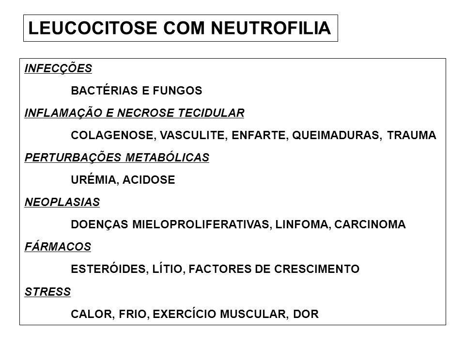 LEUCOCITOSE COM NEUTROFILIA