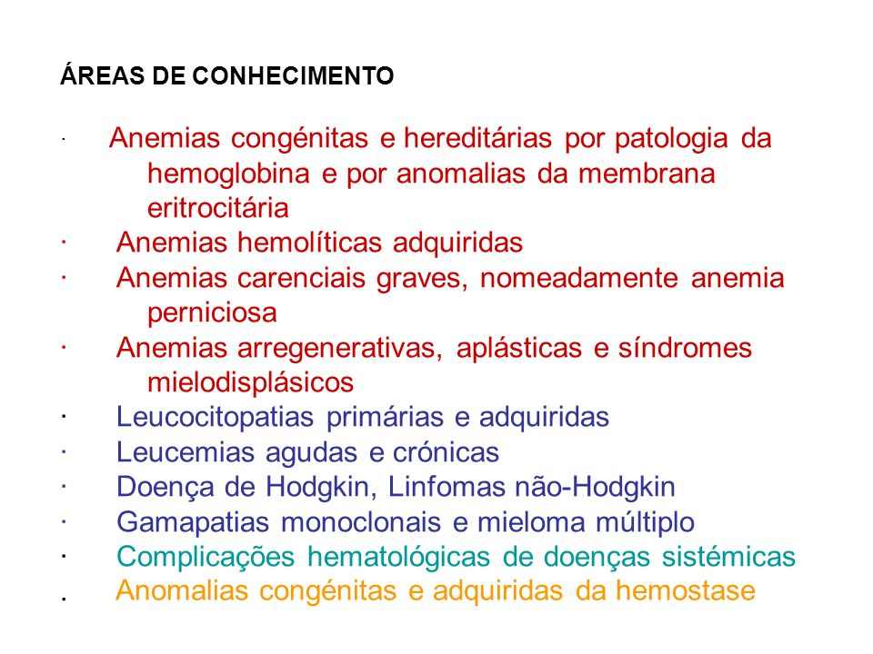 Anomalias congénitas e adquiridas da hemostase