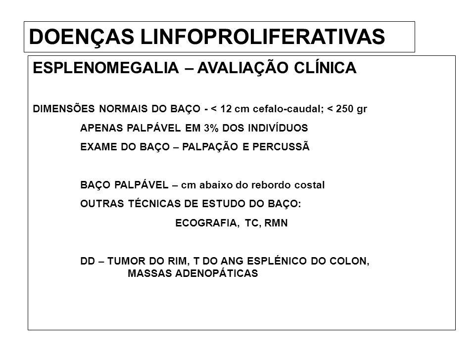 DOENÇAS LINFOPROLIFERATIVAS